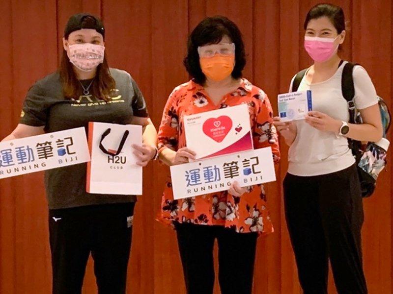 鴻海旗下H2U永悅健康集團整合《早安健康》、《運動筆記》資源贊助帕奧代表團。(廠商提供)