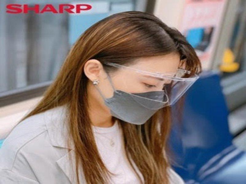 搶開學(Back to School)商機 台灣夏普推出全新蛾眼科技防護「眼罩」。(夏普提供)