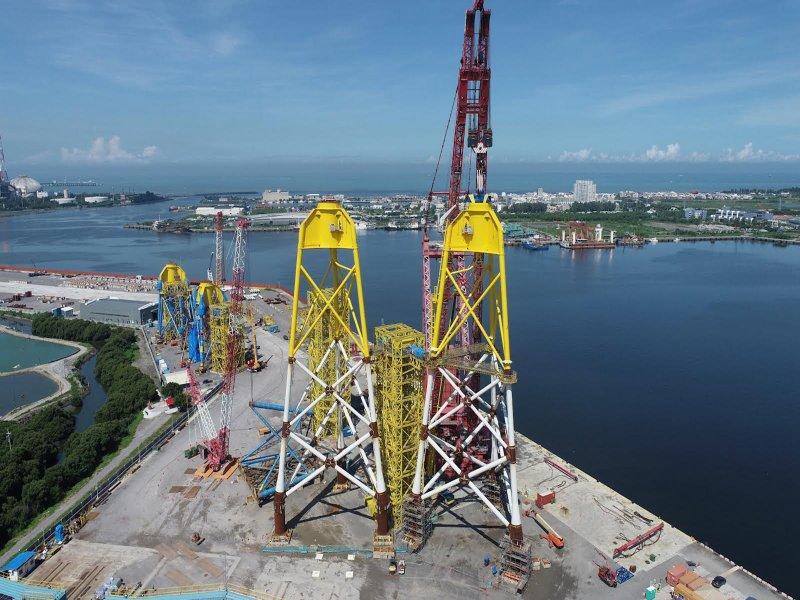 中鋼旗下興達海基攜手國內供應鏈 奠立離岸風電水下基礎國產化里程碑。(中鋼提供)