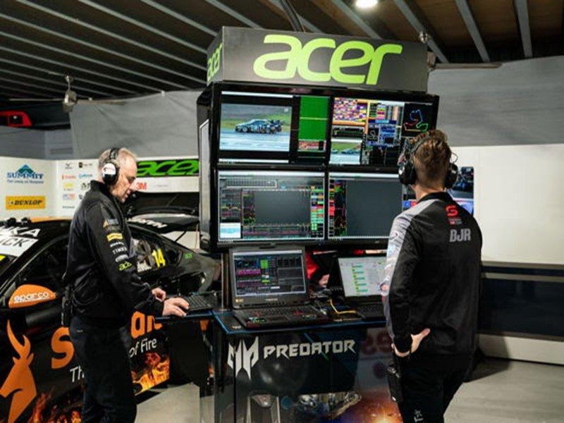 宏碁打造澳洲職業賽車BJR車隊數位平台。(宏碁提供)