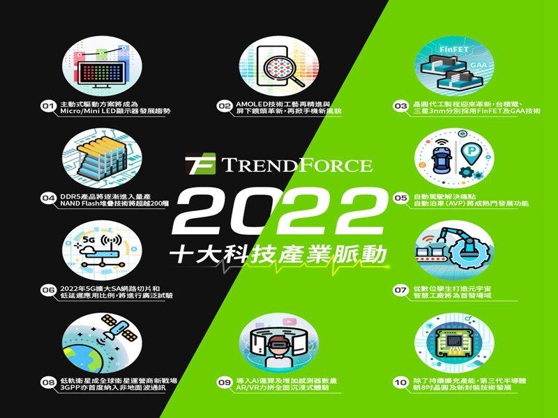 TrendForce發布2022年十大科技產業脈動。(TrendForce提供)