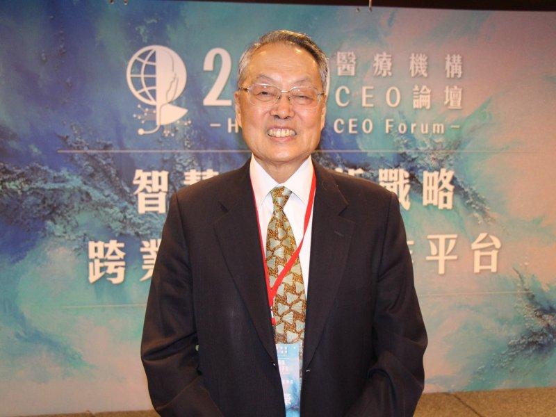 施振榮參與去年-2020年9月時舉辦的醫療機構CEO論壇活動。(施振榮提供)